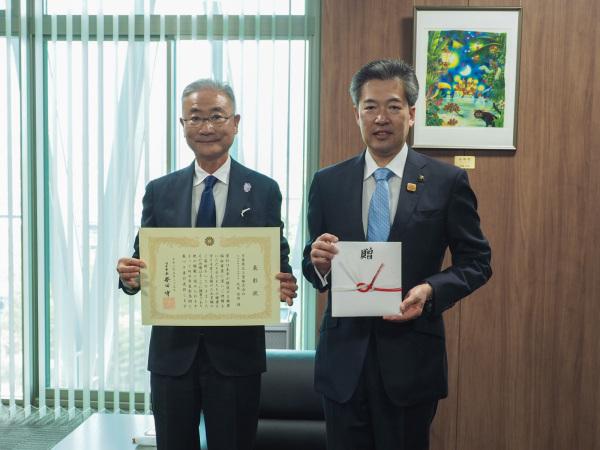 日東薬品工業株式会社善行表彰式